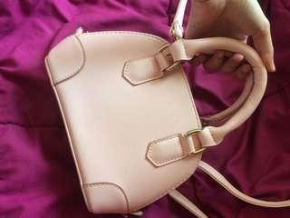 Baby pink handy sling bag mini