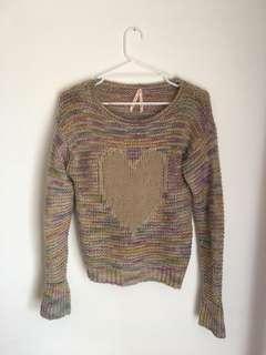 Pastel rainbow knit