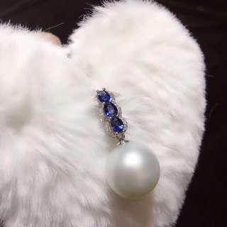 藍寶石珍珠吊嘴