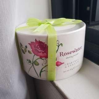 Crabtree & Evelyn Rosewater Dusting Powder 85g