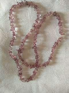 New Maroon Crystal Stone Necklace