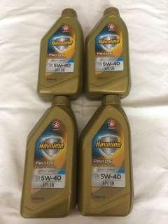 $80/支 1L Caltex Havoline SAE 5W-40 機油/偈油