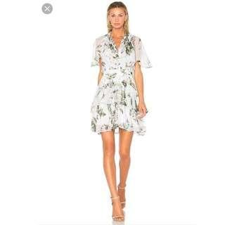 Lover the Label - Watercolour Flutter Mini Dress Mint - SIZE 6 RRP $595
