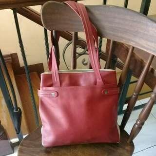 Red / white tote bag