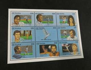 Guyana 1993. Sports Personalities of the 20th Century full sheet