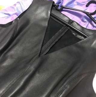Zara basic faux leather dress