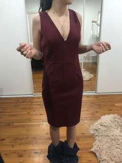 Maroon knight Angel dress