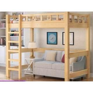高架床 實木床 組合床 單人床 3尺床 書架 梯櫃 松木床 碌架床 租房 劏房 公屋 居屋 私樓 181010-2