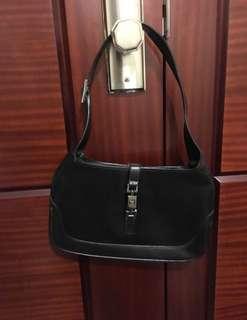 Gucci 中古 黑色短帶皮 手袋 black handbag