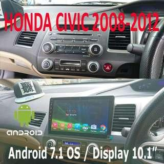 "HONDA CIVIC 2008-2012 Android 7.1 OS Car Stereo 10"" Display"