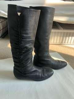 Jimmy Choo Leather Boots (knee high) SIZE 36