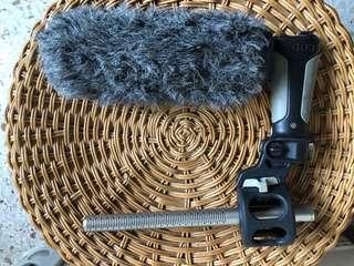 Rode NTG3 Shotgun Mic with Rode Pistol Grip and Slip On Wind Protector