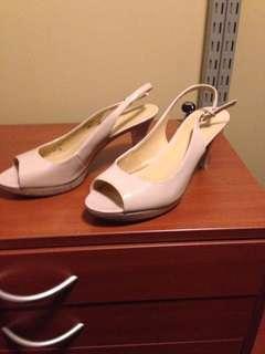 Cream coloured heel