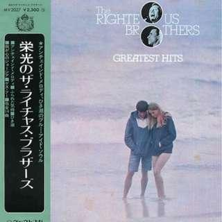 Vinyl LP The Righteous Brothers ‎– Greatest Hits MV 2027 1972 japan pressing stereo w/o obi