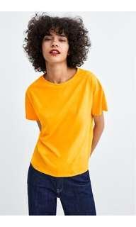 Zara Mustard Loose Tshirt