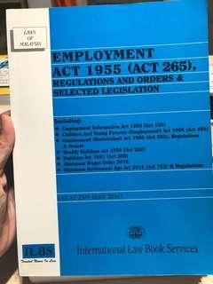 EMPLOYMENT ACT 1955 (Laws of Malaysia)