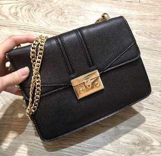 Charles and Keith Square Pushlock Bag