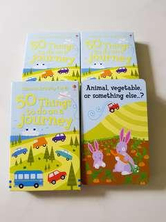 Usborne activity cards - 50 things to do on a journey