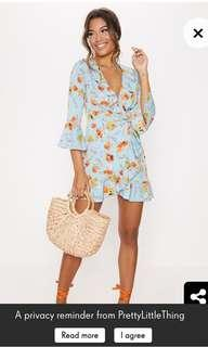 Blue floral summer tea dress RENT ONLY