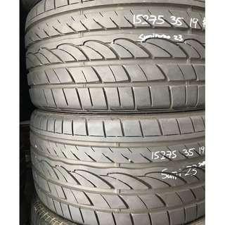 275/35x19 used tyres 90% tread (Sumitomo Japan tyre )