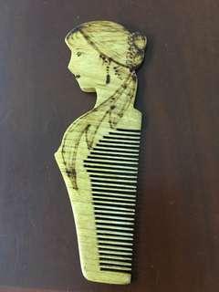 木製梳子 comb