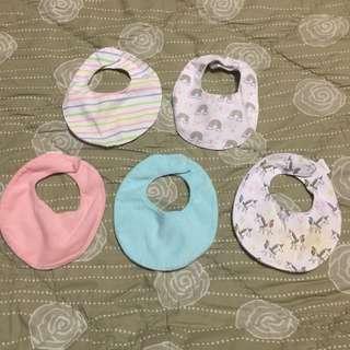 Preloved Baby Bibs Set-of-5 (TAKE ALL)