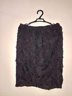 Black skirt (with floral design)