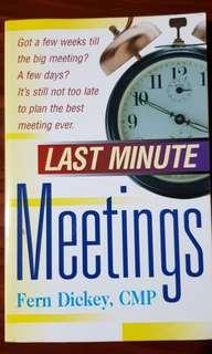 Last Minute Meetings by Fern Dickey