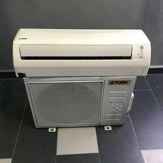 York 1.5hp wall (second hand) - Siap Pasang