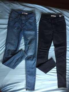 Women Levi 710 supper skinny jeans