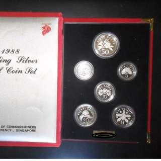 1988 Singapore Silver Proof Coin Set