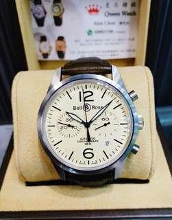 Bell & Ross  米色面手錶 未用品 自動 有出世纸