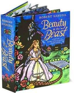 Beauty and the Beast pop-up book by Robert Sabuda