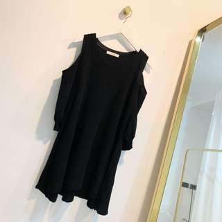 🚚 有實拍 日本品牌LowrysFarm 露肩薄針織小洋裝 可當上衣