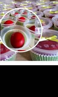 RED BOILED EGGS