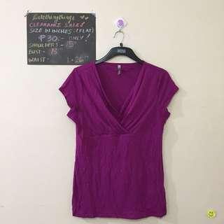 Large - Magenta Short Sleeved top - check description for details