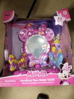 小朋友 玩具 女 Disney Minnie headband bow maker vanity 迪士尼 梳妝枱 化妝
