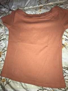 Baju sabrina orange
