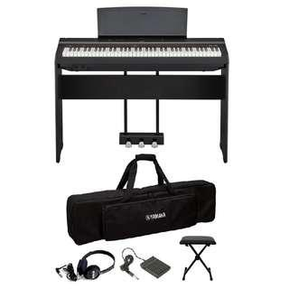Yamaha P121 73-full-weighted-key digital piano + free padded gig bag and FC5 pedal + discounted accessories (limited time)