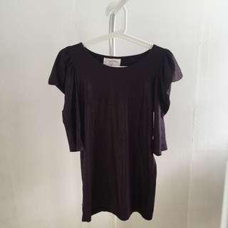 Preloved purple glitter top