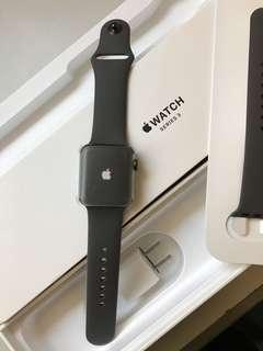 Brand new Apple Watch S3 GPS 38mm Gray Aluminum Case Gray Sport Band, Warranty date5-9-2019