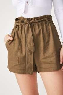 PROMO A : BNWT HIGH WAIST ARMY GREEN PAPERBAG SHORTS