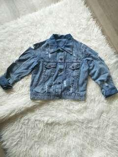 Jaket ripped jeans