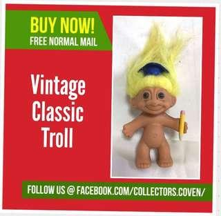 "Vintage Original Trolls Toga hat & pencil 4"" , TROLL"