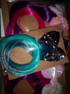 Sequined Bow with ombre hair
