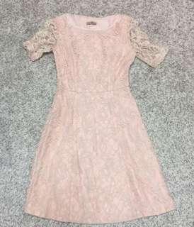 Pink Lace Dress 粉紅色喱士裙 100% New 全新(未剪牌)