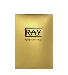 Ray gold facial mask
