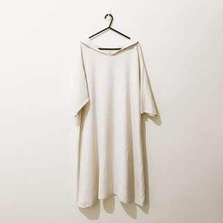 🚚 洋裝 | saibaba ethnique 日系棉麻 亞麻上衣 洋裝 森林系女孩必備 F 米白色