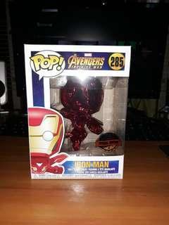 Funko POP! Marvel Avengers: Infinity War Iron Man (Special Edition - Red Chrome)