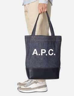 A.P.C. APC Axel Leather Tote Bag